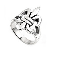 Fleur De Lis Ring Sterling Silver 925