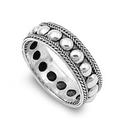 Bali Tribal Design Ring Sterling Silver 925
