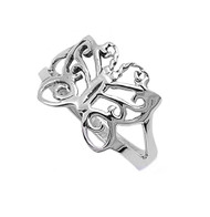 Buttrfly Ring Sterling Silver 925