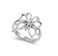 Butterfly Haven Ring Sterling Silver 925