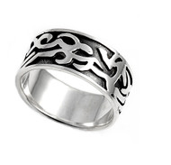 Tribal Ring Sterling Silver 925