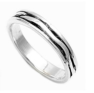 Dual Line Inscribed Ring Sterling Silver 925