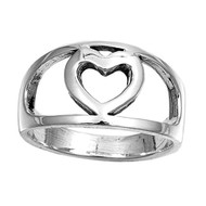 Heart Fashion Ring Sterling Silver 925