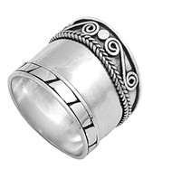 Tribal Indonesian Bali Ring Sterling Silver 925