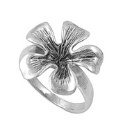 Narcissus Adornment Solitaire Flower Ring Sterling Silver 925
