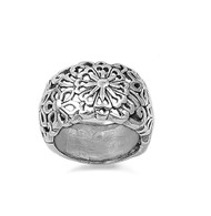 Chrysanthemum Adornment Filigree Flower Ring Sterling Silver 925
