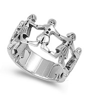 We Are The World Ring Sterling Silver 925