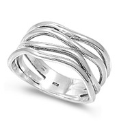 Aligned Forever Op Art Ring Sterling Silver 925