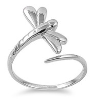 Depth of Character Dragonfly Ring Sterling Silver 925