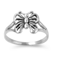Flower Elysium Butterfly Ring Sterling Silver 925
