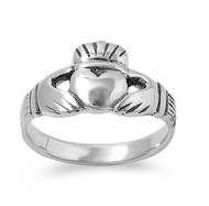 Traditional Irish Claddagh Ring Sterling Silver 925