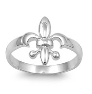 Royal Hierarchy Fleur De Lis Ring Sterling Silver 925