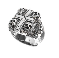 Four Horsemen of Apocalypse Skull Ring Sterling Silver 925