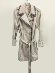 VIA SPIGA Trench Coat - Muslin Size 3X