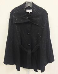 Calvin Klein Belted Sequin Black Cape Size S/M