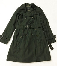 Jones New York Doublke Breasted Belted Loden Trench Coat, Small