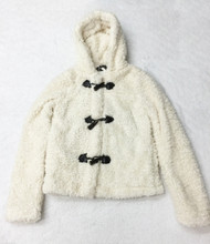 Me Jane Cream faux fur Womens jacket Size XS