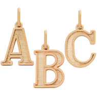 Rose Gold-Tone Plated Sterling Silver A To Z Initials Charm