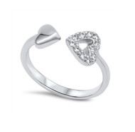 My love To You Is Unspeakable Cubic Zirconia Ring Sterling Silver 925