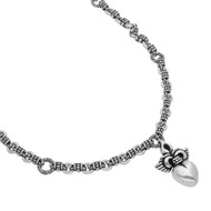 """Sterling Silver Twisted Blade Heart With Wings 20"""" Designer Necklace Jewelry"""