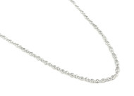 """30"""" Rhodium Plated Sterling Silver Cubic Zirconia By the Yard Designer Necklace"""