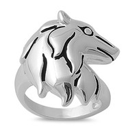 Man's Bestfriend Dog Ring Rhodium Plated Brass