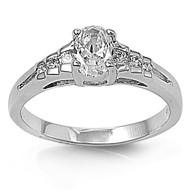 Designer Intent Ring Rhodium Plated Brass Cubic Zirconia