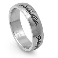 Scriptures Ring Stainless Steel