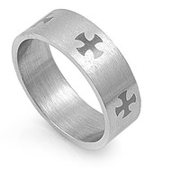 Cross Ring Stainless Steel