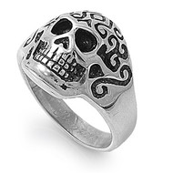 Skull Biker Ring Stainless Steel