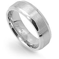 Knife Edge Plain Ring Stainless Steel