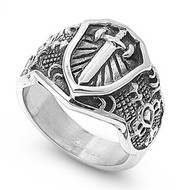 Sword Biker Ring Stainless Steel