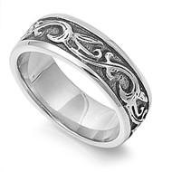 Tribal Flame Biker Ring Stainless Steel