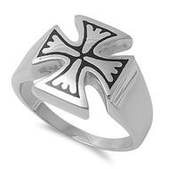 Prussia Iron Cross Biker Ring Stainless Steel