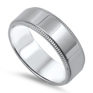 Rope Braided Edges Classic Band Ring Stainless Steel