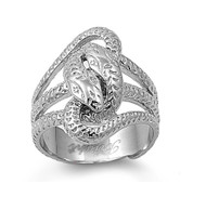 Snake Biker Ring Stainless Steel