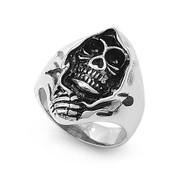Death Cloak Biker Ring Stainless Steel