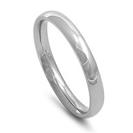Plain Concave 3MM Band Ring Stainless Steel
