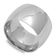 Plain 15MM Band Ring Stainless Steel