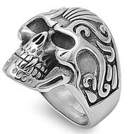 ConjuRing Skull Biker Ring Stainless Steel