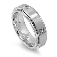 Screw Design Spinner Ring Stainless Steel