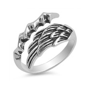 Angel Wing With Eagle Claw Designer Ring Sterling Silver 925