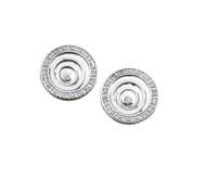 Cubic Zirconia Swirl Earrings Sterling Silver 18MM