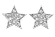 Cubic Zirconia Fashion Earrings Sterling Silver 24MM