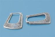 Cubic Zirconia Fashion Earrings Sterling Silver 29MM