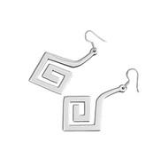 Designer Style Dangle Earrings Sterling Silver 16MM