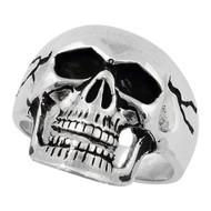 Electromagnetic Skull Ring Sterling Silver 925