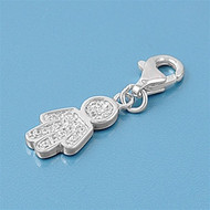 Boy Add On Charm Sterling Silver 24MM
