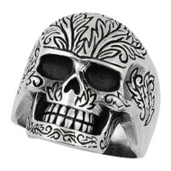 Evergreen Skull Ring Sterling Silver 925
