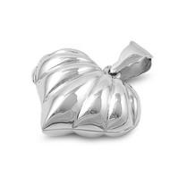 Sterling Silver Heart Classic Locket Pendant 24MM